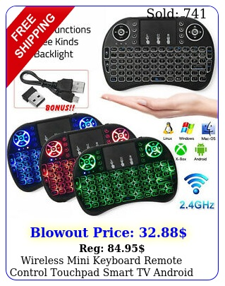 wireless mini keyboard remote control touchpad smart tv android tv pc gh