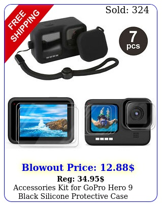 accessories kit gopro hero black silicone protective case screen lens fil