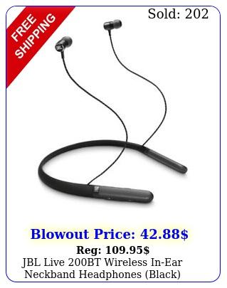 jbl live bt wireless inear neckband headphones blac