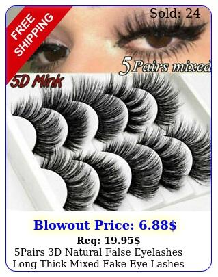 pairs d natural false eyelashes long thick mixed fake eye lashes makeup min