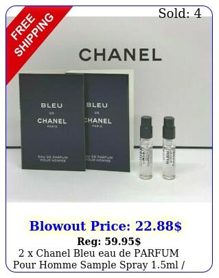 x chanel bleu eau de parfum pour homme sample spray ml oz eac