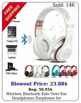wireless bluetooth kids overear headphones earphones ipadtabletphones u