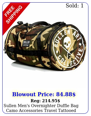 sullen men's overnighter duffle bag camo accessories travel tattooed dope we
