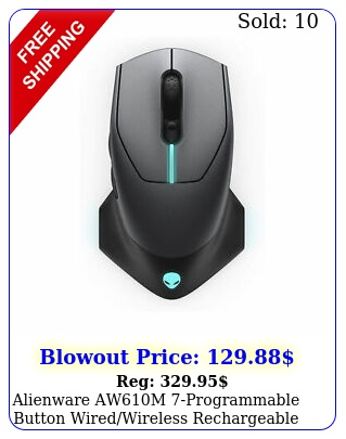 alienware awm programmable button wiredwireless rechargeable gaming mous