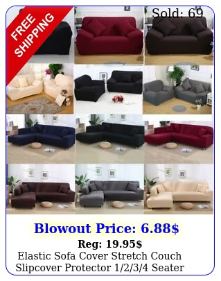 elastic sofa cover stretch couch slipcover protector seater settee cove