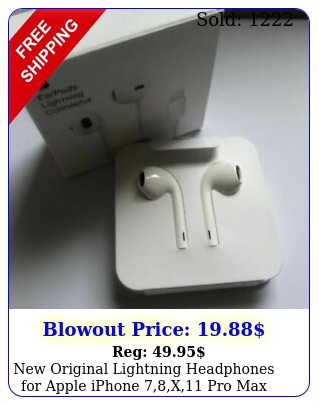original lightning headphones apple iphone x pro max earphon