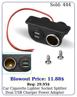 car cigarette lighter socket splitter dual usb charger power adapter outlet
