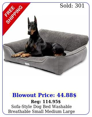 sofastyle dog bed washable breathable small medium large warming winte