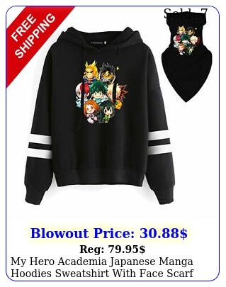 my hero academia japanese manga hoodies sweatshirt with face scarf piece se