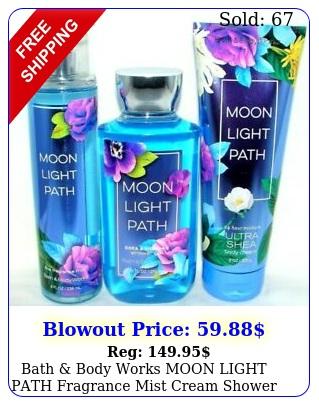 bath body works moon light path fragrance mist cream shower gel lot o