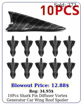 pcs shark fin diffuser vortex generator car wing roof spoiler bumper universa