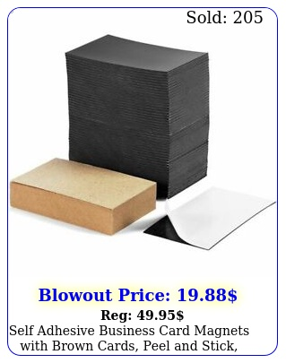 self adhesive business card magnets with brown cards peel stick pac