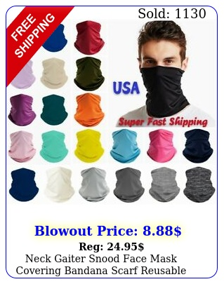 neck gaiter snood face mask covering bandana scarf reusable breathable washabl