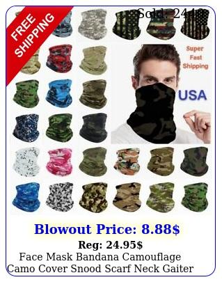 face mask bandana camouflage camo cover snood scarf neck gaiter reusable unise