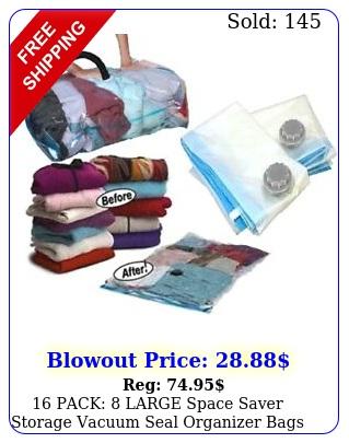 pack large space saver storage vacuum seal organizer bags  travel bag