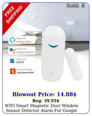wifi smart magnetic door window sensor detector alarm google home wireles