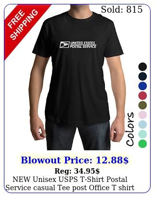 unisex usps tshirt postal service casual tee post office t shirt sx