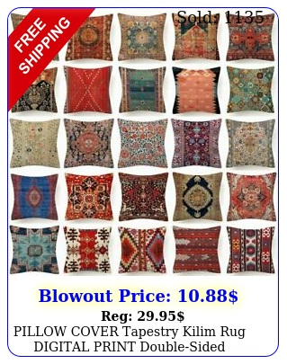 pillow cover tapestry kilim rug digital print doublesided cushion case