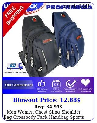 men women chest sling shoulder bag crossbody pack handbag sports travel backpac