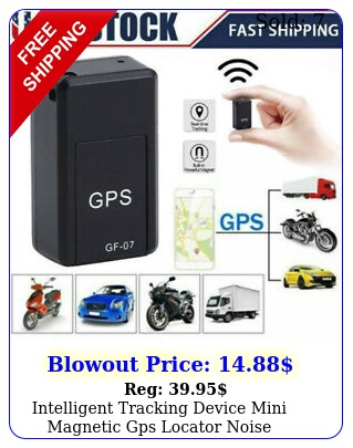 intelligent tracking device mini magnetic gps locator noise reduction gsm gpr