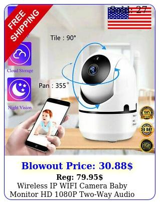 wireless ip wifi camera baby monitor hd p twoway audio smart home securit
