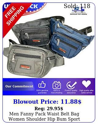 men fanny pack waist belt bag women shoulder hip bum sport travel waterproo