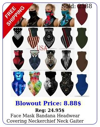 face mask bandana headwear covering neckerchief neck gaiter scarf with loops ea