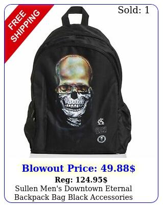 sullen men's downtown eternal backpack bag black accessories travel tattooe