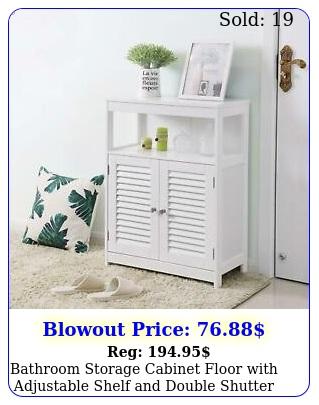 bathroom storage cabinet floor with adjustable shelf double shutter doo