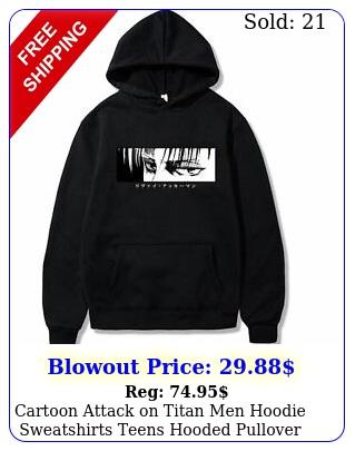 cartoon attack on titan men hoodie sweatshirts teens hooded pullover unise