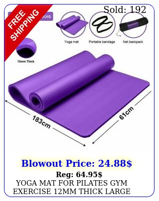 yoga mat pilates gym exercise mm thick large nbr xcm free bag stra
