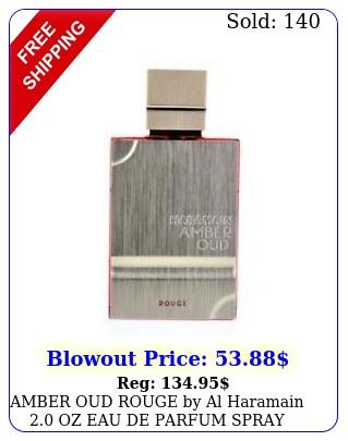 amber oud rouge by al haramain oz eau de parfum spray tester me