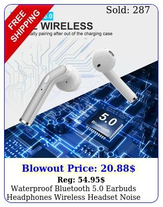 waterproof bluetooth earbuds headphones wireless headset noise cancellin
