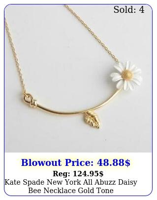 kate spade york all abuzz daisy bee necklace gold ton