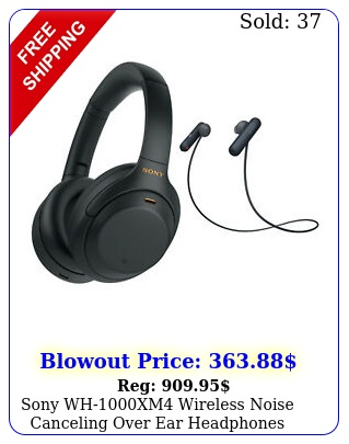 sony whxm wireless noise canceling over ear headphones black bundl