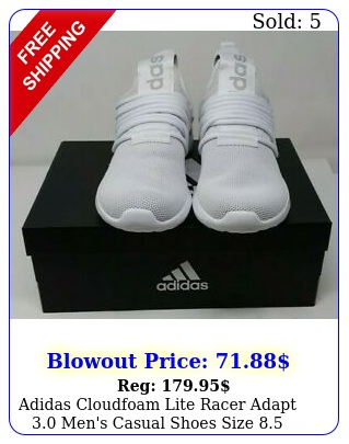 adidas cloudfoam lite racer adapt men's casual shoes siz