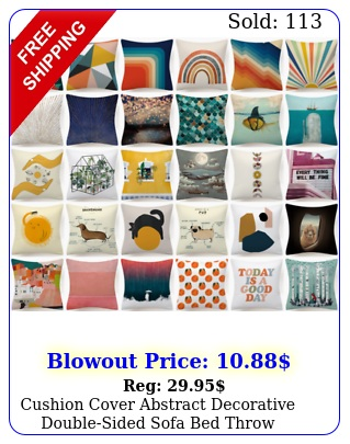 cushion cover abstract decorative doublesided sofa bed throw pillow case