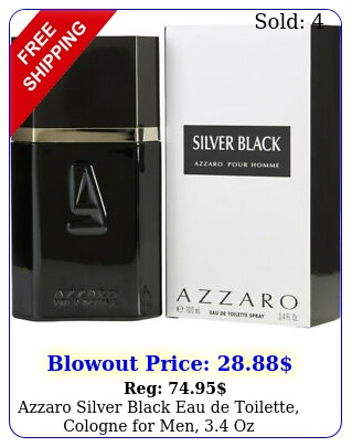 azzaro silver black eau de toilette cologne men o