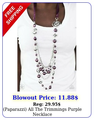 paparazzi all the trimmings purple necklac
