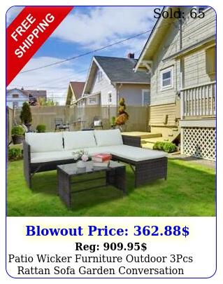 patio wicker furniture outdoor pcs rattan sofa garden conversation table set u