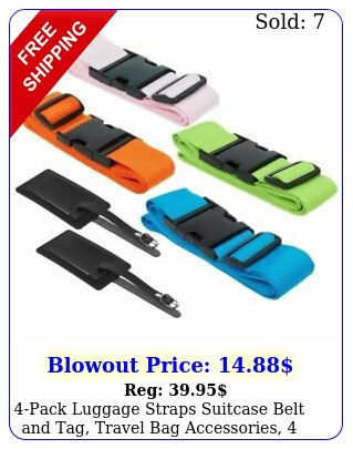 pack luggage straps suitcase belt tag travel bag accessories color