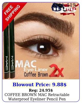 coffee brown mac retractable waterproof eyeliner pencil pen vitamin buy ge