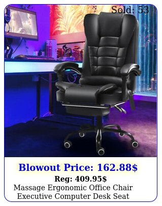 ergonomic office chair swivel executive computer desk seat leather gaming chai
