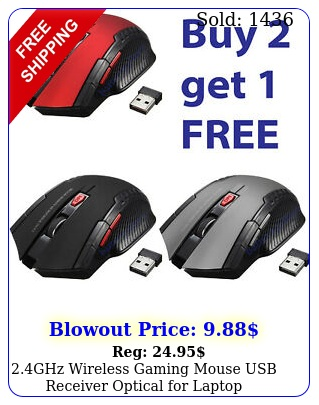 ghz wireless gaming mouse usb receiver optical laptop computer dpi us