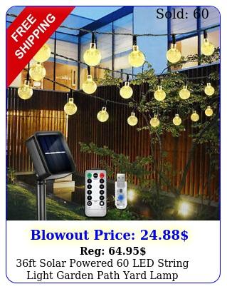 ft solar powered led string light garden path yard lamp outdoor waterproo