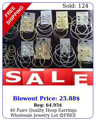 pairs quality hoop earrings wholesale jewelry lot free shippingus selle