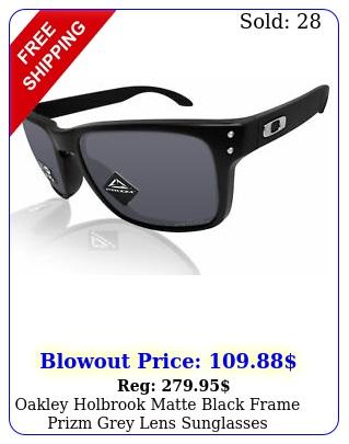 oakley holbrook matte black frame prizm grey lens sunglasses o