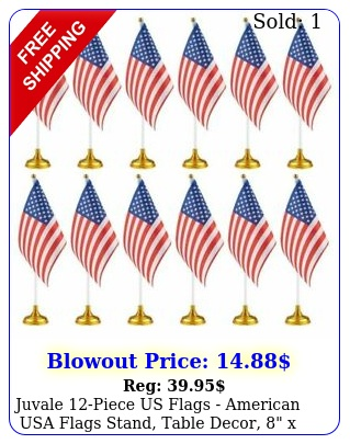 juvale piece us flags american usa flags stand table decor
