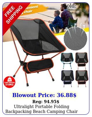 ultralight portable folding backpacking beach camping chair w storage bag u