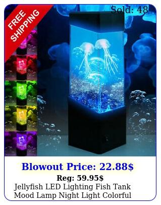 jellyfish led lighting fish tank mood lamp night light colorful chang